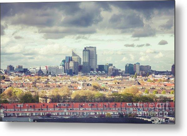 panorama of the Hague modern city Metal Print