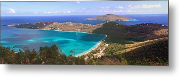 Panoramic Aerial View Of Magens Bay Metal Print by George Oze