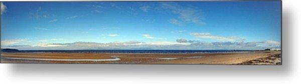 Panoramic, Ayr Beach, Scotland Metal Print