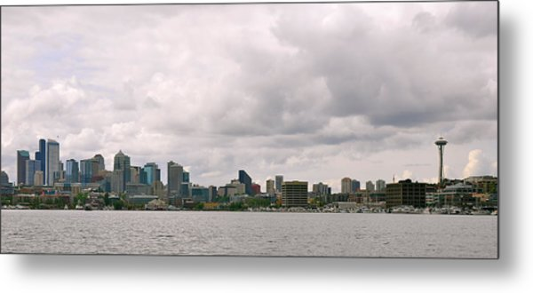Panoramic Seattle Metal Print