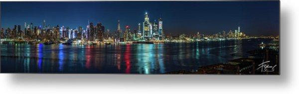 Panoramic Skyline-manhattan Metal Print