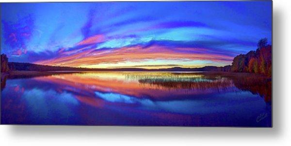 Panoramic Sunset At Round Lake Metal Print