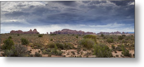 Panoramic View At Arches National Park Metal Print