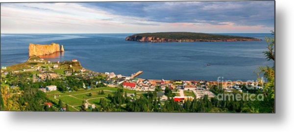 Metal Print featuring the photograph Panoramic View In Perce Quebec by Elena Elisseeva