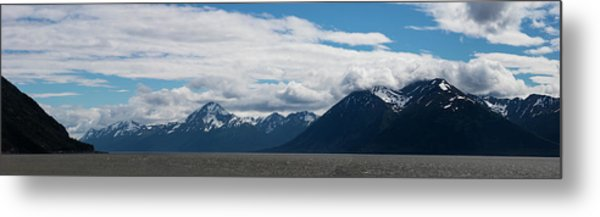 Panoramic View Of Beluga Point Metal Print