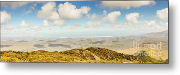 Panoramic Views From Mount Zeehan To Trial Harbour Metal Print