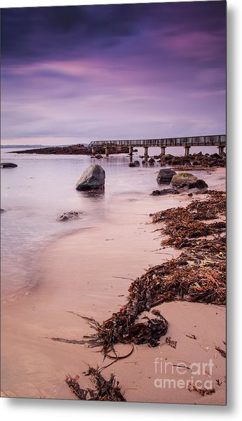 Pans Rocks Beach Metal Print