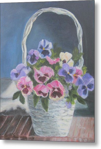 Pansies For A Friend Metal Print