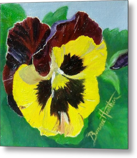 Pansy No. Ten Metal Print
