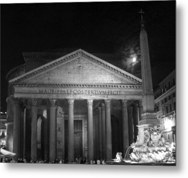 Pantheon Full Moon Metal Print by Alan Zeleznikar