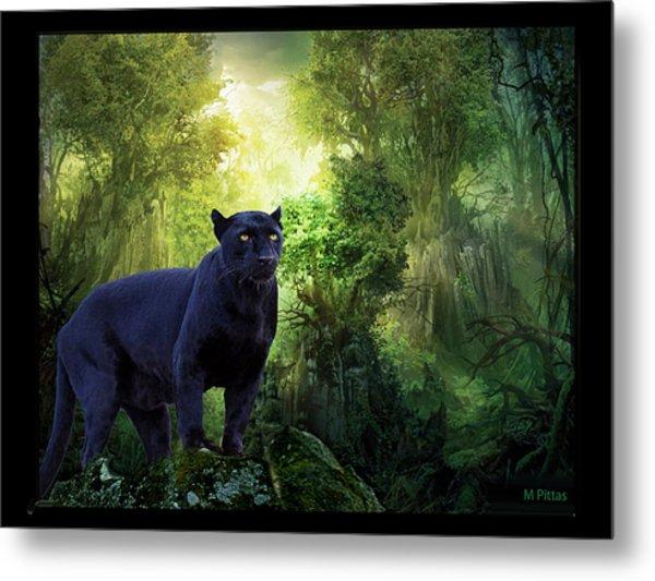 Panther Alert Metal Print
