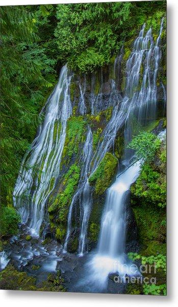Panther Creek Falls Summer Waterfall 1 Metal Print