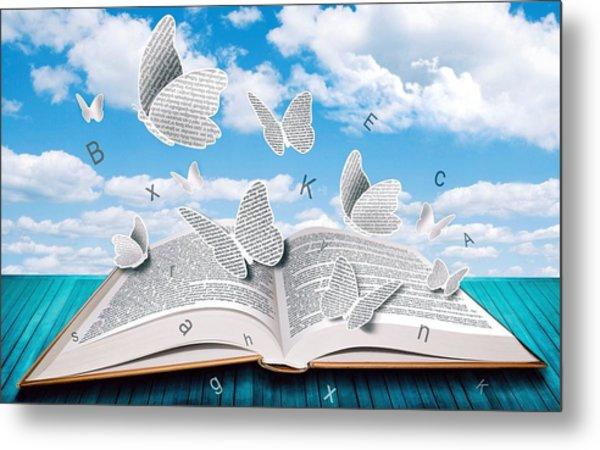 Paper Butterflies Metal Print
