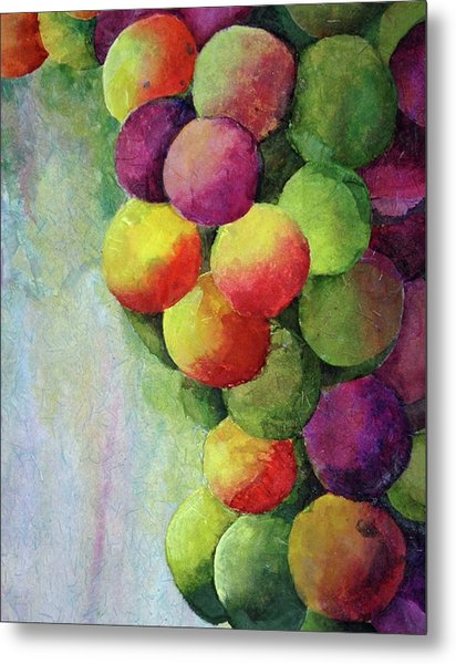 Paper Grapes Metal Print