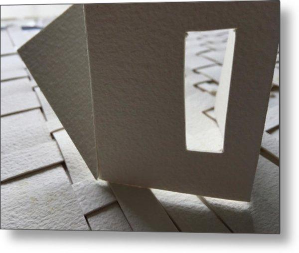 Paper Structure-3 Metal Print