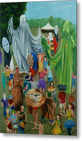 Paperhand Puppet Parade Metal Print