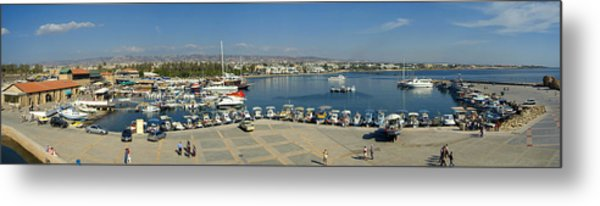 Paphos Harbour Metal Print by Donald Buchanan