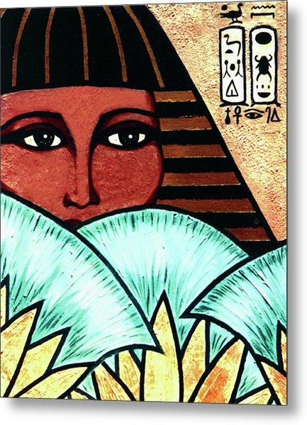 Papyrus Girl Metal Print
