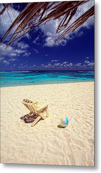Paradise Beach Ball Metal Print