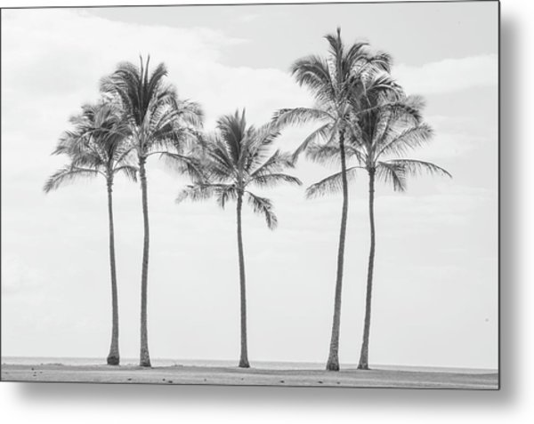 Paradise In Black And White II Metal Print