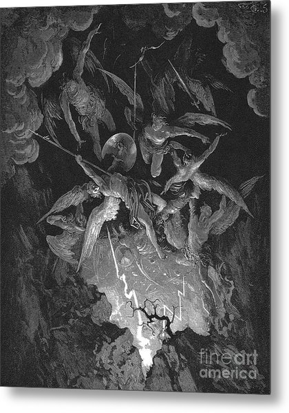 Paradise Lost  The Fall Of Man Metal Print