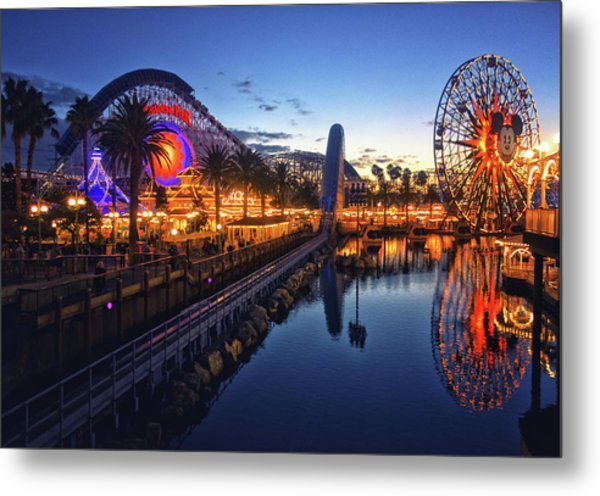 Paradise Pier Sunset Metal Print