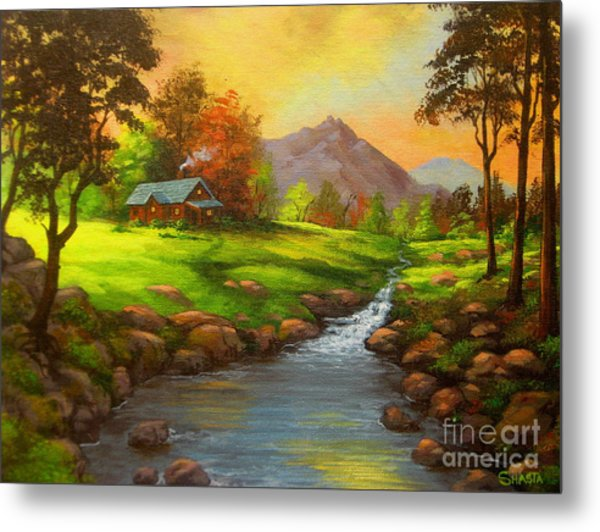 Paradise  Valley Metal Print by Shasta Eone