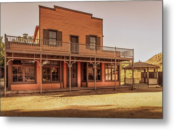 Paramount Ranch Saloon Metal Print