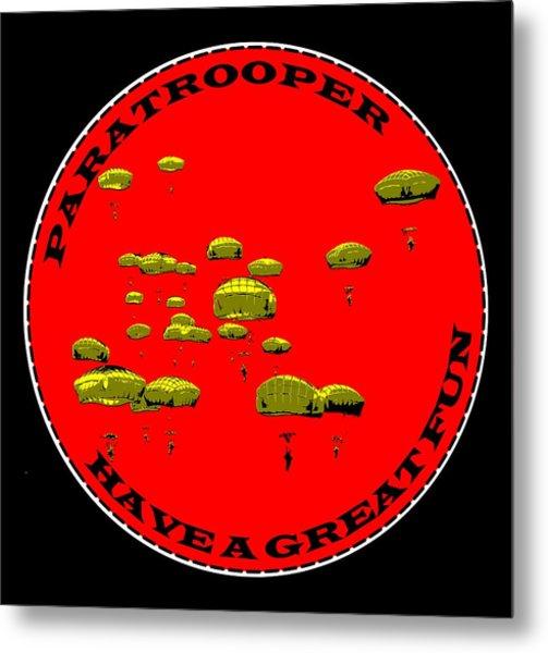 Paratrooper Fun Metal Print