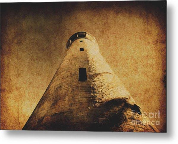 Parchment Paper Lighthouse Metal Print