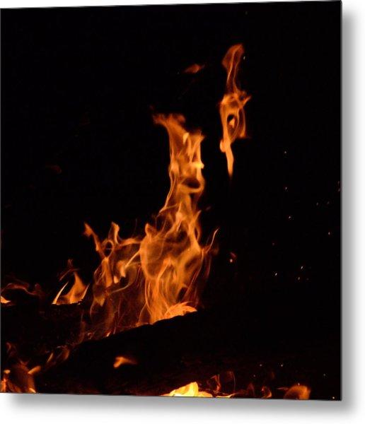 Pareidolia Fire Metal Print