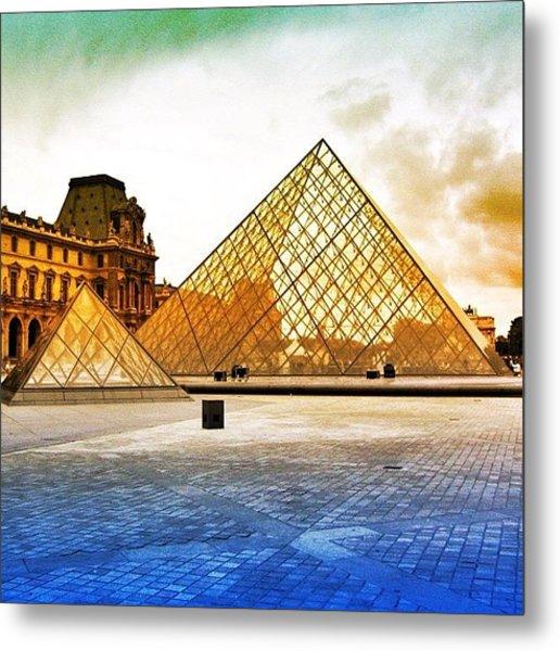 Paris - Louvre Metal Print