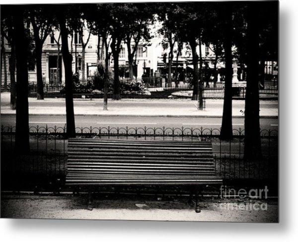 Paris Bench Metal Print