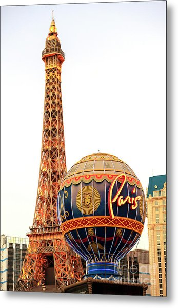 Paris Casino Las Vegas Metal Print by John Rizzuto