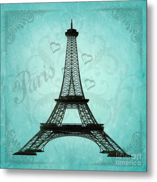 Paris Collage Metal Print