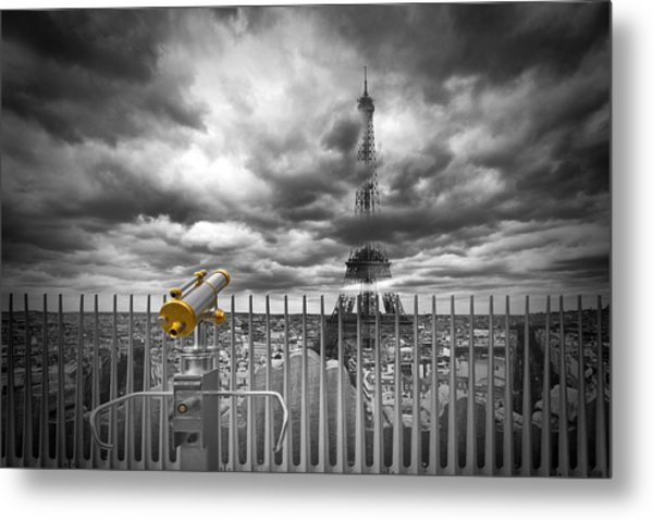 Paris Composing Metal Print