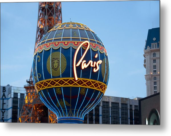 Paris-eifel Tower-las Vegas Metal Print by Neil Doren