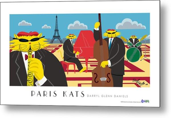 Paris Kats Metal Print