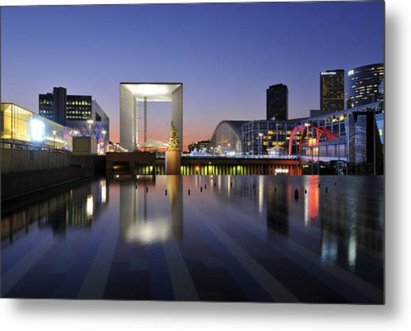 Paris La Defense Metal Print