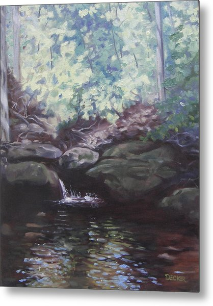 Paris Mountain Waterfall Metal Print