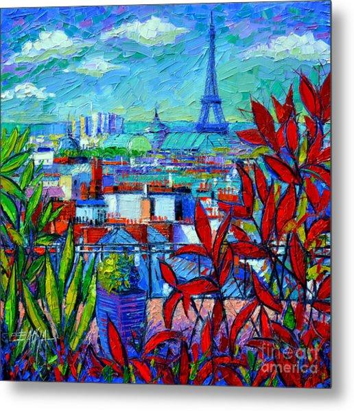 Paris Rooftops - View From Printemps Terrace   Metal Print