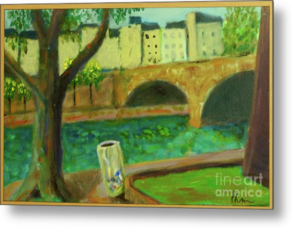 Metal Print featuring the painting Paris Rubbish by Paul McKey