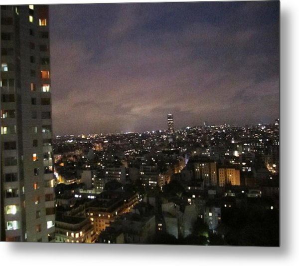 Paris Skyline At Night II France Metal Print