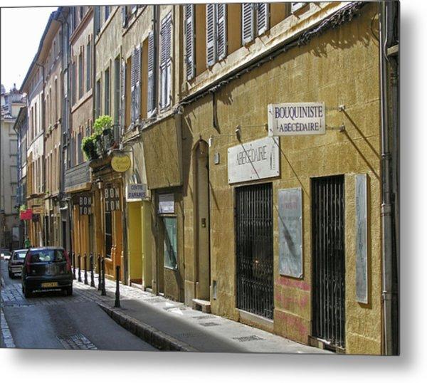 Paris Street Scene Metal Print
