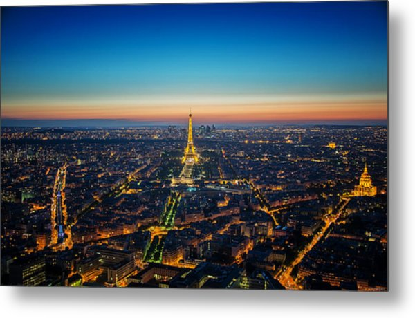 Paris Sunset Metal Print by Ryan Wyckoff