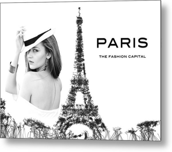 Paris The Fashion Capital Metal Print