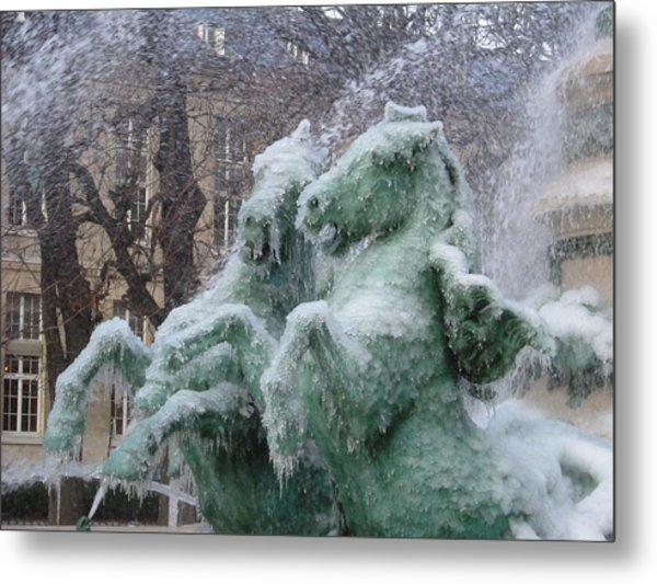 Paris Winter Metal Print