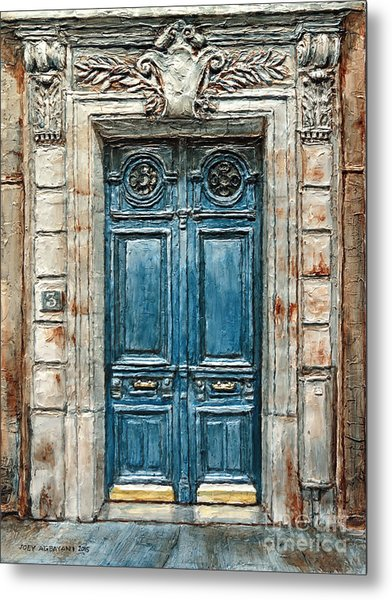 Parisian Door No. 3 Metal Print