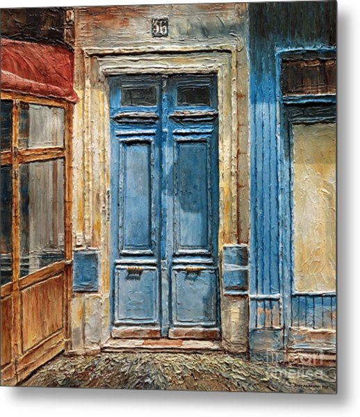Parisian Door No.36 Metal Print