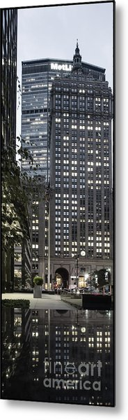 Metal Print featuring the photograph Park Avenue Met Life Nyc by Juergen Held